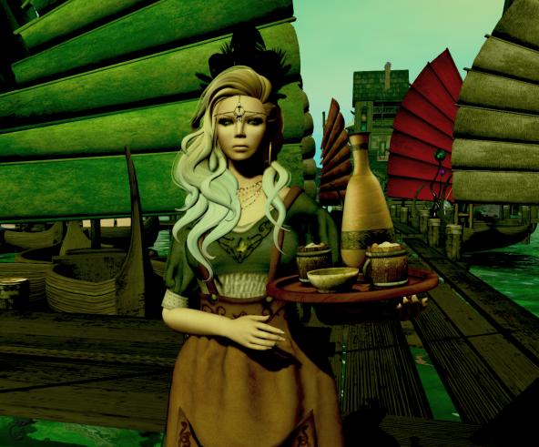 Leetah at the docks